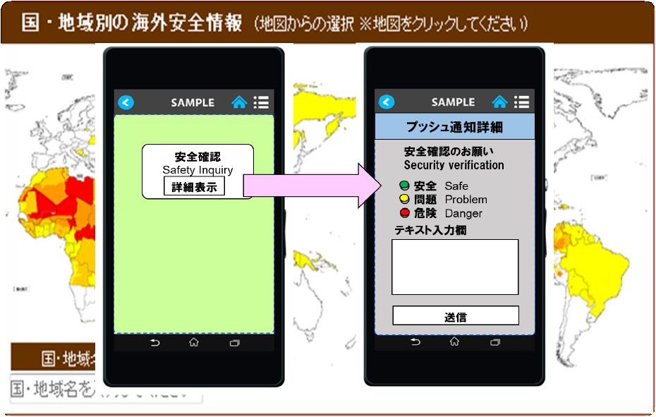 Polarisアプリの画面イメージ